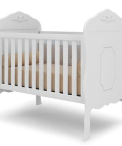Mini Crib Royalty Royal Blue Fixed Grade Satin Satin Canaã Realeza 10550