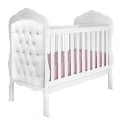Cradle Bed Realeza With Captone Suede Royalty White 90250
