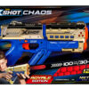 Product Description: The Golden Chaos range brings X-Shot quality and value for price into the round-blaster category. Enjoy round-blaster fun at its best.The slick Chaos Meteor blaster delivers maximum performance and accuracy combined with a unique golden design. KEY FEATURES: HUGE DART CAPACITY: Blast out the 6-round capacity UNBEATABLE FIRE POWER: Shoots up to 100ft/s speed (30m/s) EPIC FEATURES: Visible round-storage, Customization stickers TRIGGER LOCK LOADING: Easy Load mechanism EMBOSSED: Red embossed ball rounds
