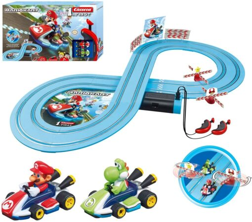 Carrera First Mario Kart -Slot Car Race Track With Spinners-Includes 2 Cars