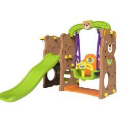 Mini Panda Bear Slide with Swing