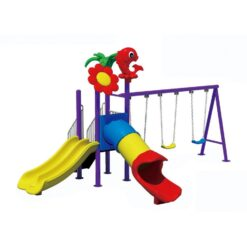 Plastic Children's Outdoor Playground With Slides And Swings N02001