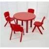Round table and chair for kids Red