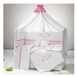 Baby Bed Crib Bumper With Pillow Turkey-120X60KHU-PINK