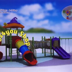 Kid's Outdoor Playground Set Slide Dome /Swing With Tunnel No: 01-13