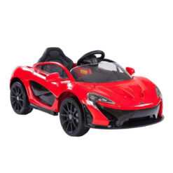 McLaren Rechargeable Battery Powered Riding Car Red Rubber Tire