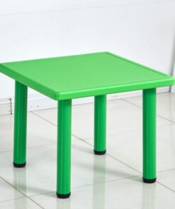 Square Plastic Study Table For Kids Green