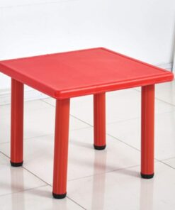 Square Plastic Study Table For Kids Red