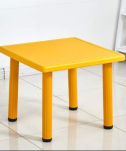 Square Plastic Study Table For Kids Yellow