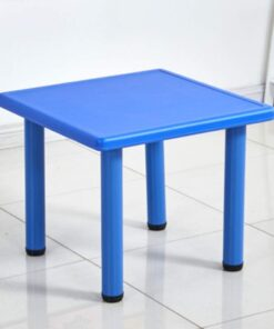 Square Plastic Study Table For Kids Blue