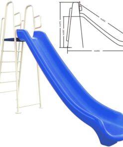 Kids Outdoor Large Slide Height 180cm for Kids-Blue