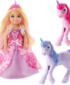 Barbie Dreamtopia Gift Set with Chelsea Princess Doll in Heart Dress