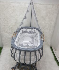 Monami Baby Bed Royal With Mosquito Net-Gray
