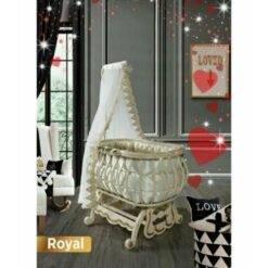 Monami Baby Bed Royal With Mosquito Net-Beige & Gray