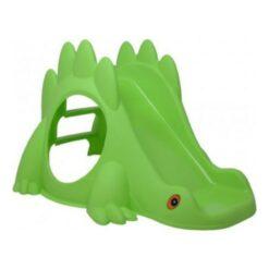 Green Dino Toddler Slide Green