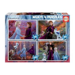 Educa 4 Junior Puzzles 50, 80, 100 and 150 Pieces, Frozen 2, from 60 Months