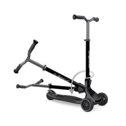 Patented Steering Control On a 3 Wheel Foldable Scooter – Black