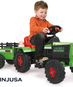 INJUSA - Electric Ride-On Tractor For Kids With 6v Trailer