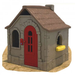 Outdoor Kids Cottage Playhouse Brown