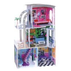 Wooden Kitchen Dollhouse with furniture For Kids
