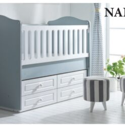 Siena Wooden Baby Bed 120×60 – TR-6263-01/Grey/White