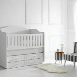 Happy Wooden Baby Cradle Bed White TR-6464-01
