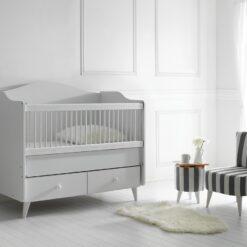 Mojo Portable Baby Wooden Cradle Bed TR-6262-01