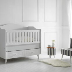 Siena Wooden Baby Bed 120×60 – TR-6263-01 White