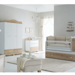 Toys 4you Wooden Baby Bed For Newborn up 3+Nova Oak