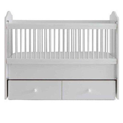 Monami Wooden Baby Cradle Bed – 60x120cm 6612 White – TR-6612-01