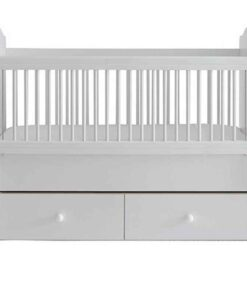 Monami Wooden Baby Cradle Bed - 60x120cm 6612 White - TR-6612-01