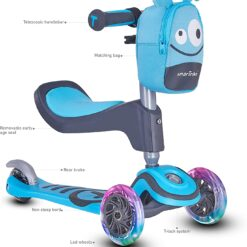 smarTrike T1 3 Stage scooTer For Kids – Blue