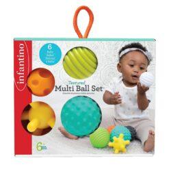 Infantino Textured Multi Ball Set For Toddler