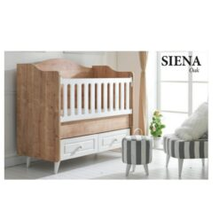 Monami Wooden Baby Bed Cradle Brown/White TR-6263-08 OAK
