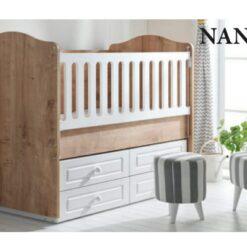 Wooden Baby Cradle Brown Newborn Up TR-7714-09/120X60