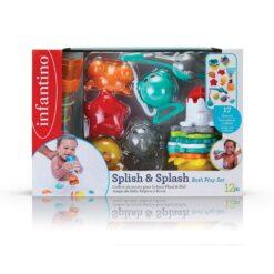 Infantino Splish & Splash 17 Piece Baby Bath Play Set