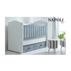 Monami Baby Cradle Wooden Bed Napoli-120×60-TR-7012-06 Grey