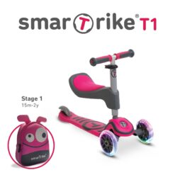 With the removable seat even younger ones can now learn to ride and enjoy the scooter. Our Swiss designed T scooTer