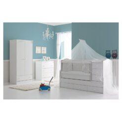 Baby Cradle 60 X 170cm - 130x70 - Monami Eva White