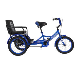 Tricycle 16-Sofa Inch with Rear Seat Blue