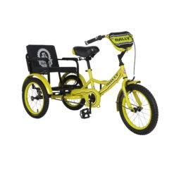 Tricycle 12 Sofa Inch with Rear Seat For Kids Yellow