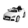 Audi TT Powered Riding Car Rechargeable Battery Car For Kids Yellow