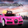 12V Licensed Bugatti Chiron Kids Ride On Car Battery Operated Electric Cars for Kids Pink
