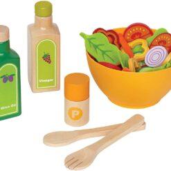 Award Winning Hape Garden Salad Wood Play Kitchen Play Set - E3116
