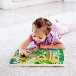 This fun magnetic maze is a fun way to travel through the jungle and learn about our wild animal friends