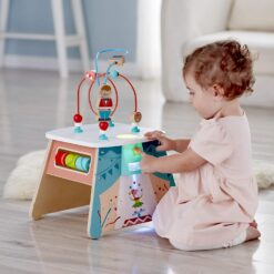 Hape E1813 Light-Up Circus Activity Cube - E1813