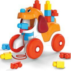 Mega Bloks Pull-Along Puppy Preschool Building Set - GNW63
