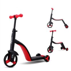 Nadle Tri-Scoot Scooter 3-in-1 Tricycle/Scooter/For Girls & Boys