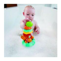 Hape Kids Little Splashers Teddy's Umbrella Stackers - E0203