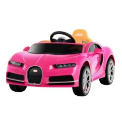 Bugatti Chiron Kids Ride On Car Battery Operated Electric Cars for Kids Pink